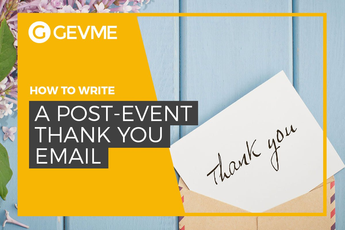 write a post-event thank you email