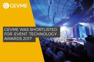 GEVME Shortlisted for Event Technology Awards 2017