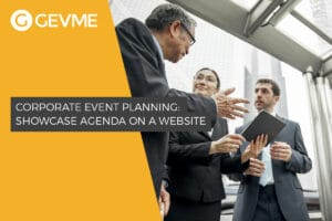 Showcase Agenda on a Website