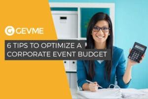 A corporate event budget