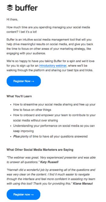 Content focused email