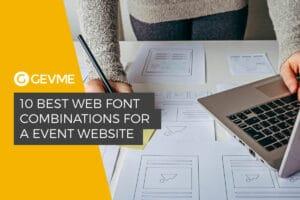 10 Best Web Font Combinations for Event Website