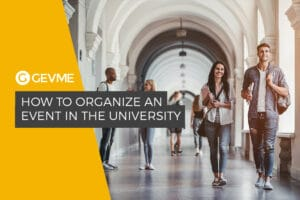 how to organise an event in a university