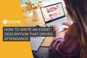how to write an event description