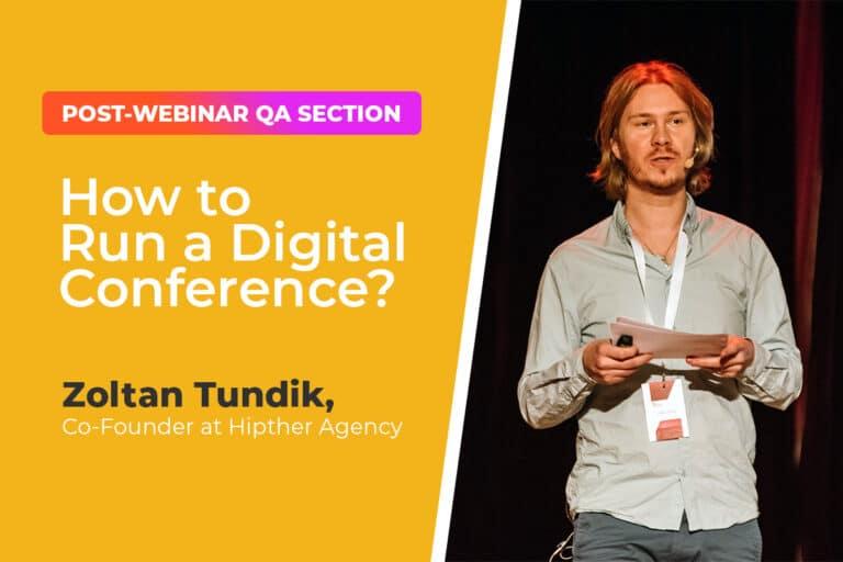 Post-webinar QA section with Zoltan Tudnik